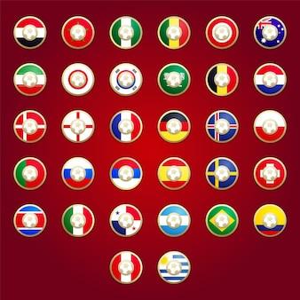 Campionato del mondo di calcio delle bandiere del paese in russia