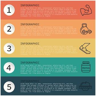 Campioni di design infografico su testo