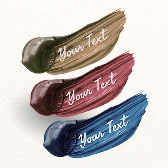 Campioni di pennellate di vernice
