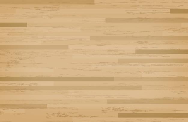 Campo da basket in acero di legno duro.