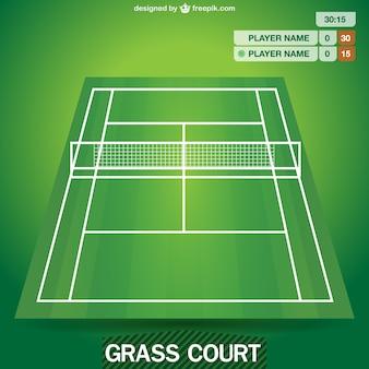 Campo da tennis grafica vettoriale