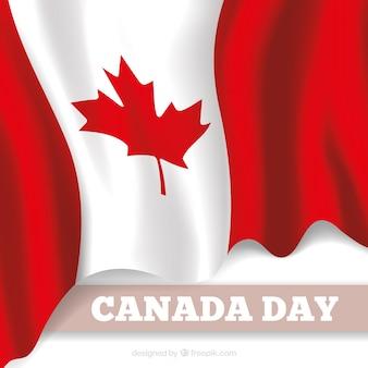 Canada sfondo di giorno con bandiera