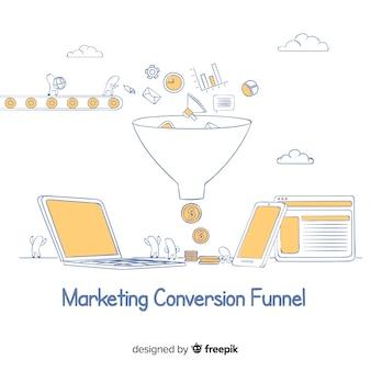 Canalizzazione di conversione di marketing