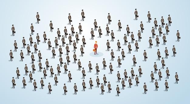Candidato di reclutamento delle risorse umane dell'uomo d'affari rosso