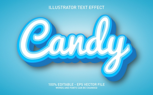 Candy effetto di testo modificabile