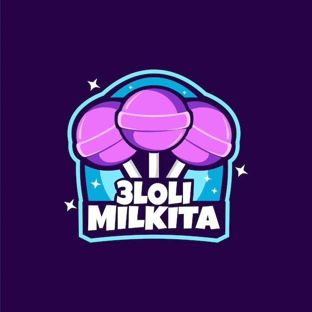 Candy lollipop logo