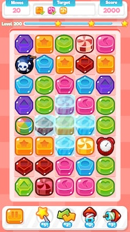 Candy match three game