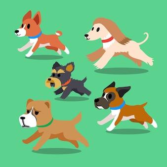 Cani dei cartoni animati in esecuzione