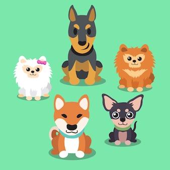 Cani del fumetto in piedi insieme