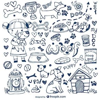 Cani e animali doodles