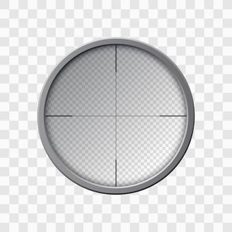 Cannocchiale da cecchino. scopo dell'arma. modello di vetro ottico. concetto di destinazione, illustrazione