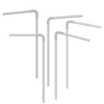 Cannucce realistiche di vettore isolate su bianco con varie curve.