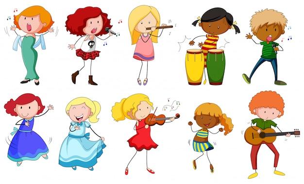 Cantanti e musicisti in azione