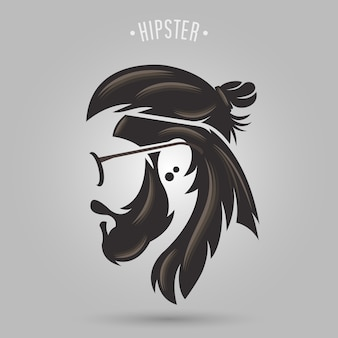 Capelli lunghi panino hipster