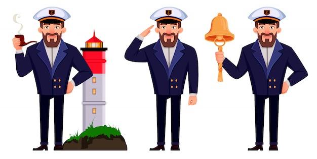 Capitano della nave in uniforme professionale