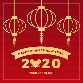 Capodanno cinese in carta da parati stile carta