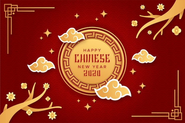 Capodanno cinese in stile carta