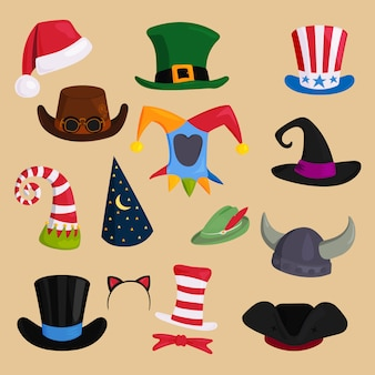 Cappelli di vario tipo e colori