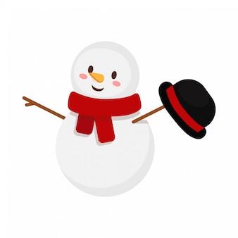 Cappello d'ondeggiamento del pupazzo di neve di natale