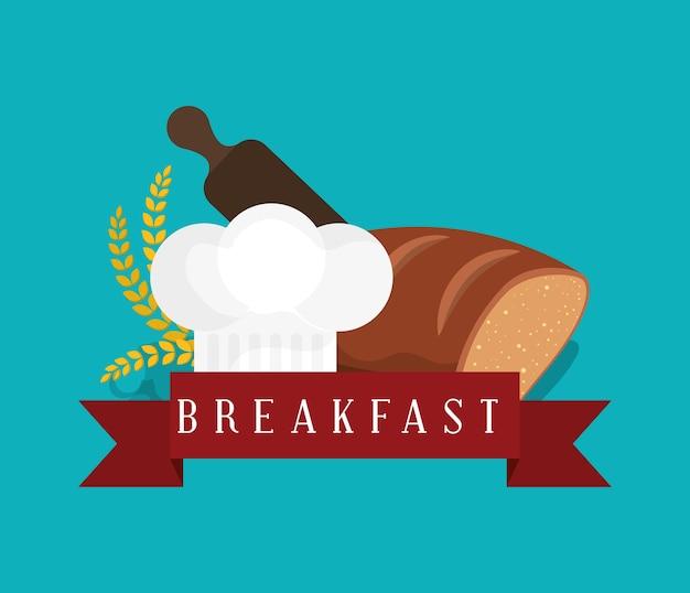 Cappello del cuoco del rullo del grano del forno del forno della prima colazione