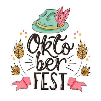 Cappello e scritte tradizionali più oktoberfest