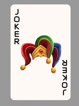 Cappello joker di carte da gioco