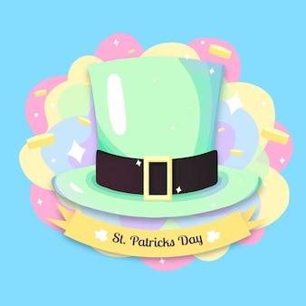 Cappello verde leprechaun con monete d'oro