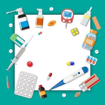 Capsule e dispositivi sanitari delle pillole della medicina