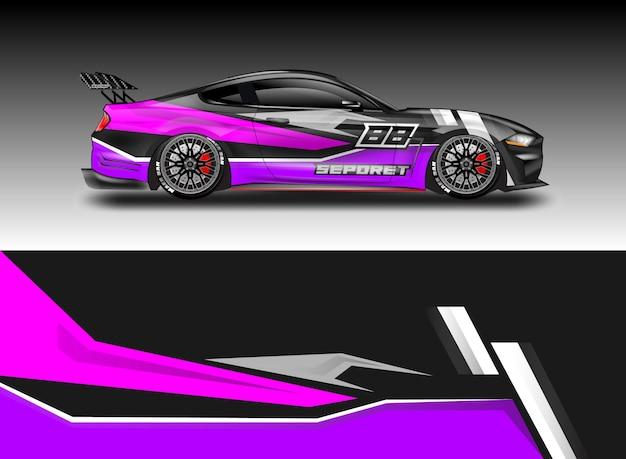 Car decal wrap disegni vettoriali