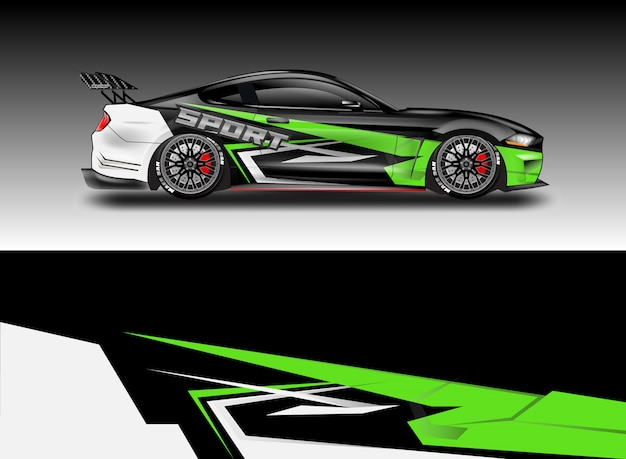 Car decal wrap disegni vettoriali