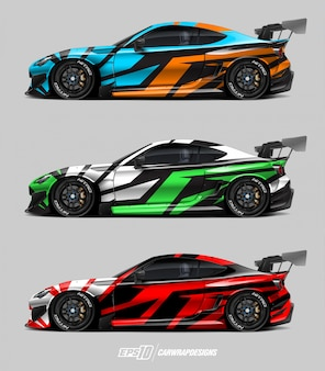 Car wrap design set