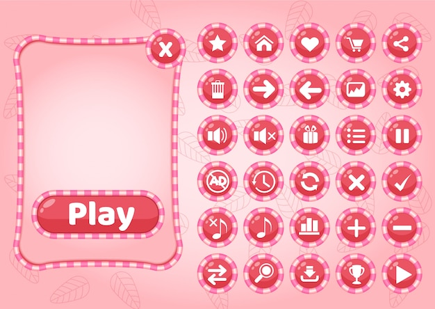 Caramella di confine e icona gui per il gioco.