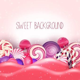 Caramella di sfondo terra rosa