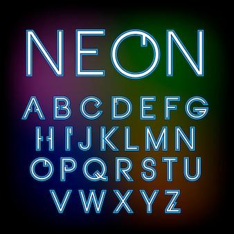 Carattere al neon lineare