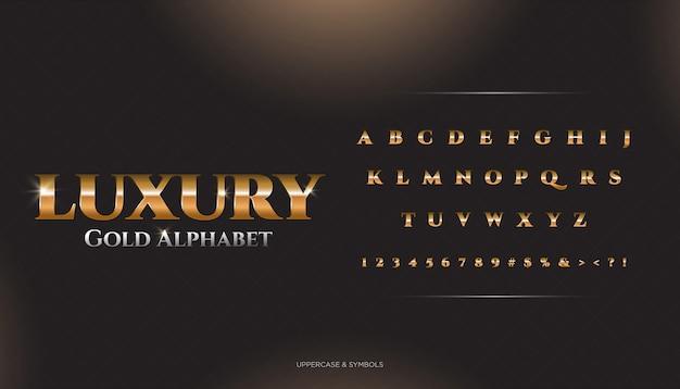 Carattere alfabeto classico di lusso