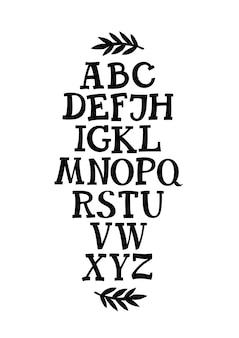 Carattere alfabeto serif