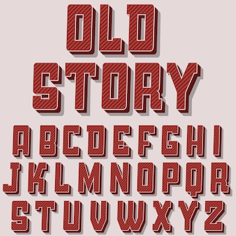 Carattere alfabeto vintage.