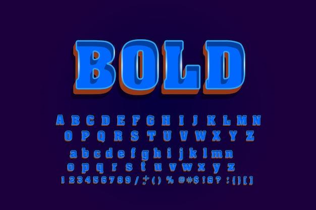Carattere alla moda, fresco alfabeto moderno.