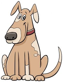 Carattere animale cane macchiato del fumetto in colletto