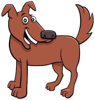 Carattere animale divertente del cane felice del fumetto