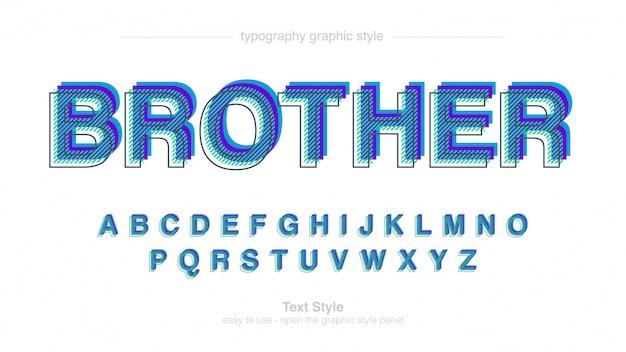 Carattere artistico moderno blu dots stripes patter