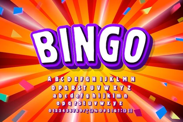 Carattere bingo / alfabeto moderno