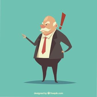 Carattere boss arrabbiato