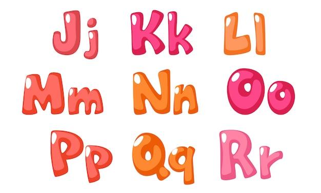 Carattere carino grassetto in colore rosa per bambini