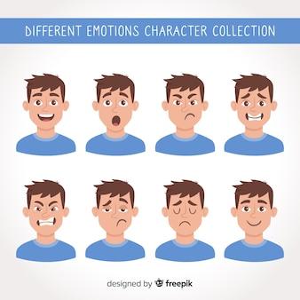 Carattere che mostra le emozioni