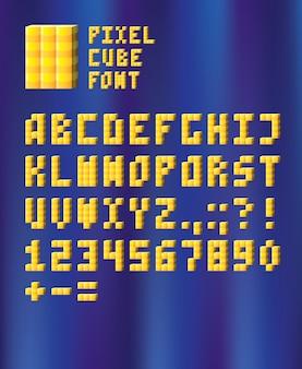 Carattere cubo pixel