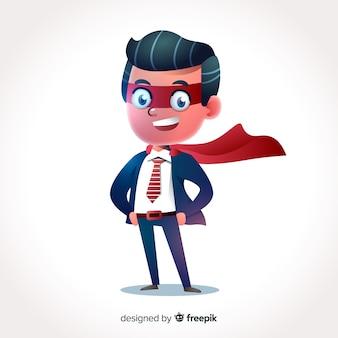 Carattere dell'uomo d'affari 3d