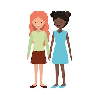 Carattere di avatar di giovani donne