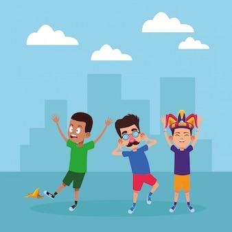 Carattere di cartone avatar giovani bambini