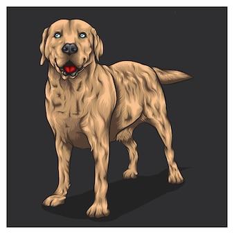 Carattere di concetto di cane labrador retriever
